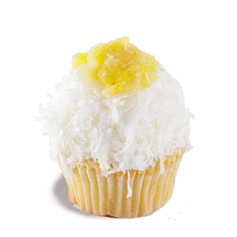 Pineapple Coconut Poundcup Cupcake
