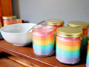 Rainbow Fruit Loops - 8oz (45-55hrs) - Scented Soy Candle