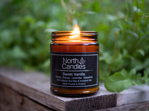 North Candles 9oz Essential Oil Blends Organic Soy Wax
