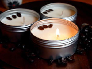 Coffee - 4oz (10-15hrs) 100% Organic Soy Wax Scented Jar Candle