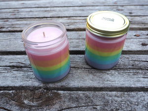 North Candles Rainbow Fruit Loops Scented Candle 100% Organic Soy Wax as seen at Richmond Fair 2019
