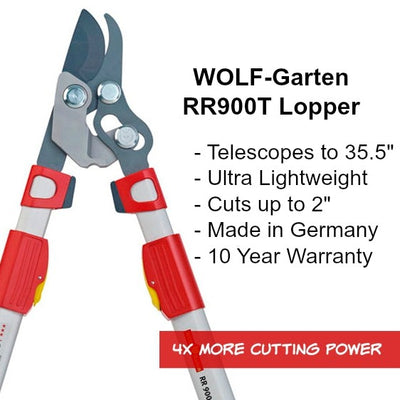BlueStone Garden - WOLF Garten Power Cut Bypass Lopper RR900T