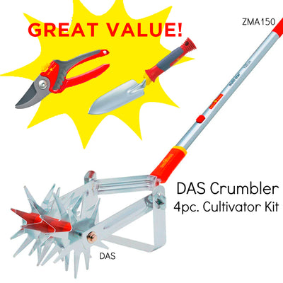 Interlocken® Crumbler Soil Cultivator Gardening Tool Kit