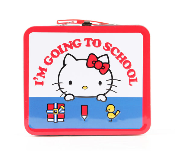 LOUNGEFLY LONCHERA DE METAL SCHOOL HELLO KITTY - MULTICOLOR