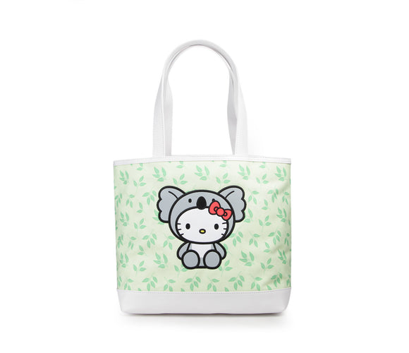 SANRIO BOLSO A RAYAS WILDLIFE KOALA HELLO KITTY - VERDE