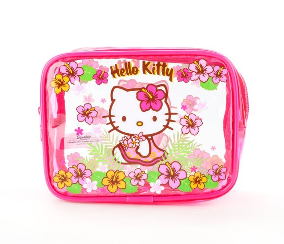 SANRIO BOLSO MULTIUSOS VINYL BEACH SUMMER HELLO KITTY - MULTICOLOR