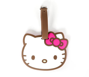 SANRIO ETIQUETA DE EQUIPAJE BROWN HELLO KITTY - BLANCO