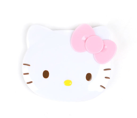 SANRIO SET DE ESPEJO COMPACTO + PEINE HELLO KITTY - BLANCO