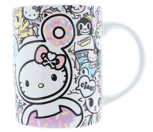 TOKIDOKI TAZA MUG CERAMICO HELLO KITTY - MULTICOLOR
