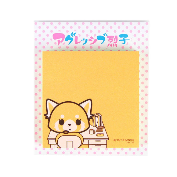 SANRIO NOTAS ADHESIVAS OFFICE CHAIR AGGRETSUKO - ANARANJADO