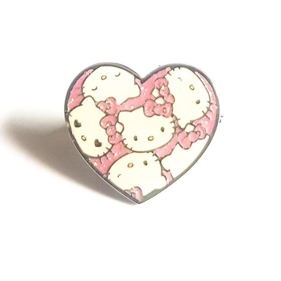 SANRIO ANILLO HEART HELLO KITTY - BLANCO