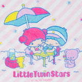 SANRIO TOALLA DE MANO VACATION LITTLE TWIN STARS - ROSADO