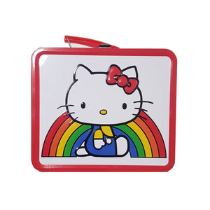 LOUNGEFLY LONCHERA DE METAL RAINBOW HELLO KITTY - MULTICOLOR