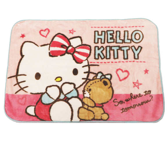 SANRIO MANTA COBIJA PINK HELLO KITTY - ROSADO
