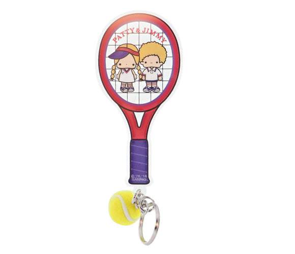 SANRIO LLAVERO TENNIS PATTY & JIMMY - ROJO