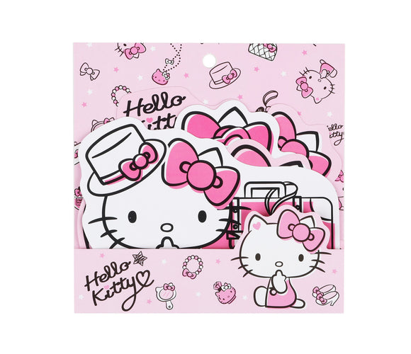 SANRIO STICKERS TRAVEL HELLO KITTY - ROSADO