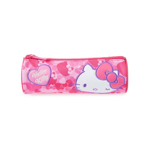 SANRIO CARTUCHERA REDONDA HEART HELLO KITTY - FUCSIA