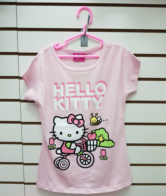 INTERTEX POLO BICICLETA PASTEL HELLO KITTY - ROSADO