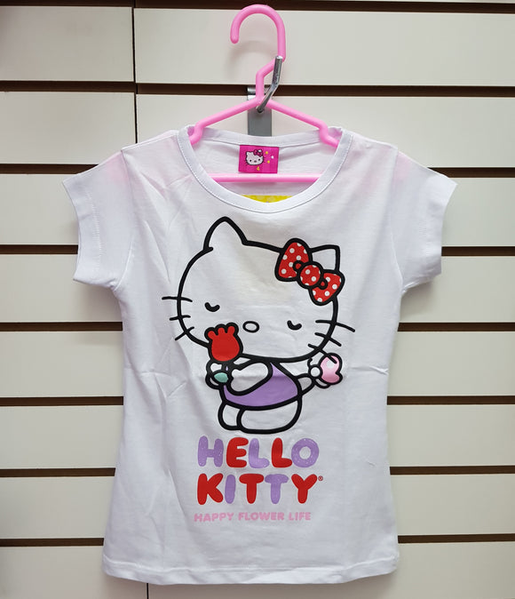 INTERTEX POLO AROMA FLOR HELLO KITTY - BLANCO