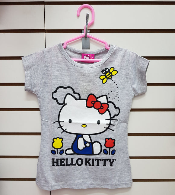 INTERTEX POLO FLORES HELLO KITTY - PLOMO