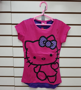 INTERTEX POLO FUCSIA FONDO MORADO HELLO KITTY - FUCSIA