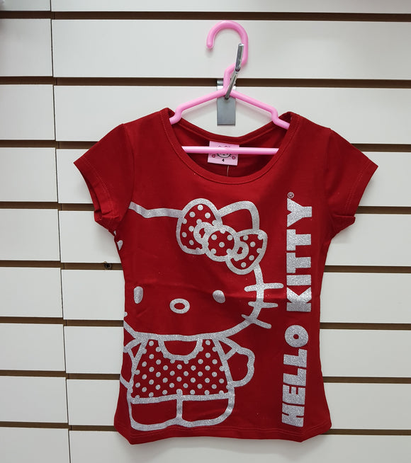 INTERTEX POLO BRILLOS HELLO KITTY - ROJO