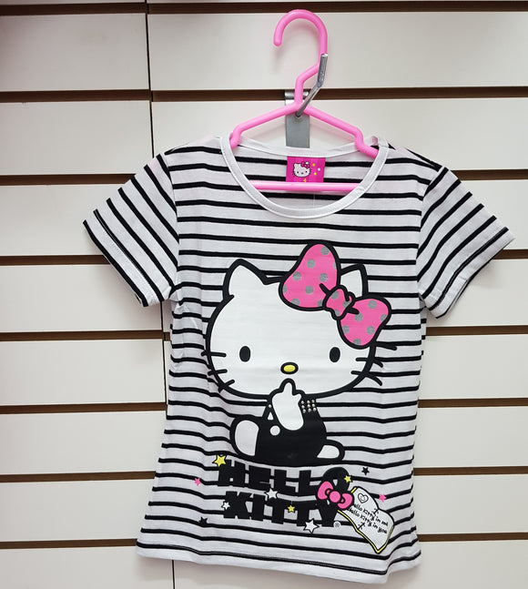 INTERTEX POLO RAYAS HELLO KITTY - BLANCO