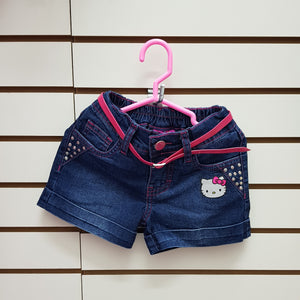 INTERTEX SHORT JEAN HELLO KITTY  - AZUL