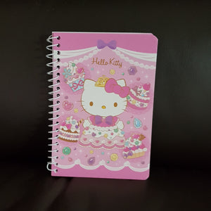 SANRIO MINI BLOCK DE NOTAS ESPIRAL RAYADO SWEET HELLO KITTY - MULTICOLOR