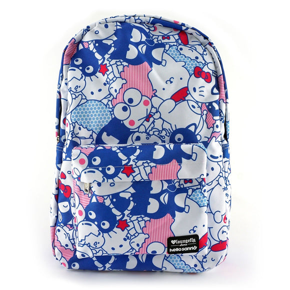 LOUNGEFLY MOCHILA FRIENDS PRINT HELLO KITTY - AZUL