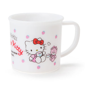 SANRIO TAZA DE PLASTICO STRAWBERRY HELLO KITTY - BLANCO