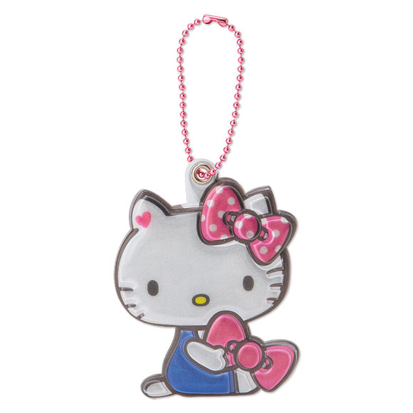 SANRIO LLAVERO ETIQUETA DE NOMBRE REFLECTION HELLO KITTY - ROSADO