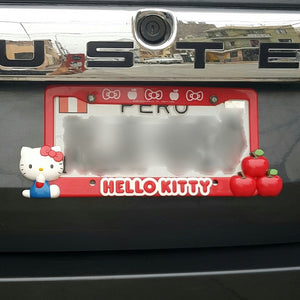 SANRIO COBERTOR DE PLACA HELLO KITTY - ROJO
