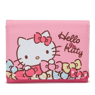 SANRIO BILLETERA CASE TARJETAS RIBBON HELLO KITTY - ROSADO