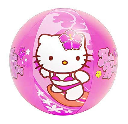 SANRIO PELOTA DE PLAYA HELLO KITTY - ROSA