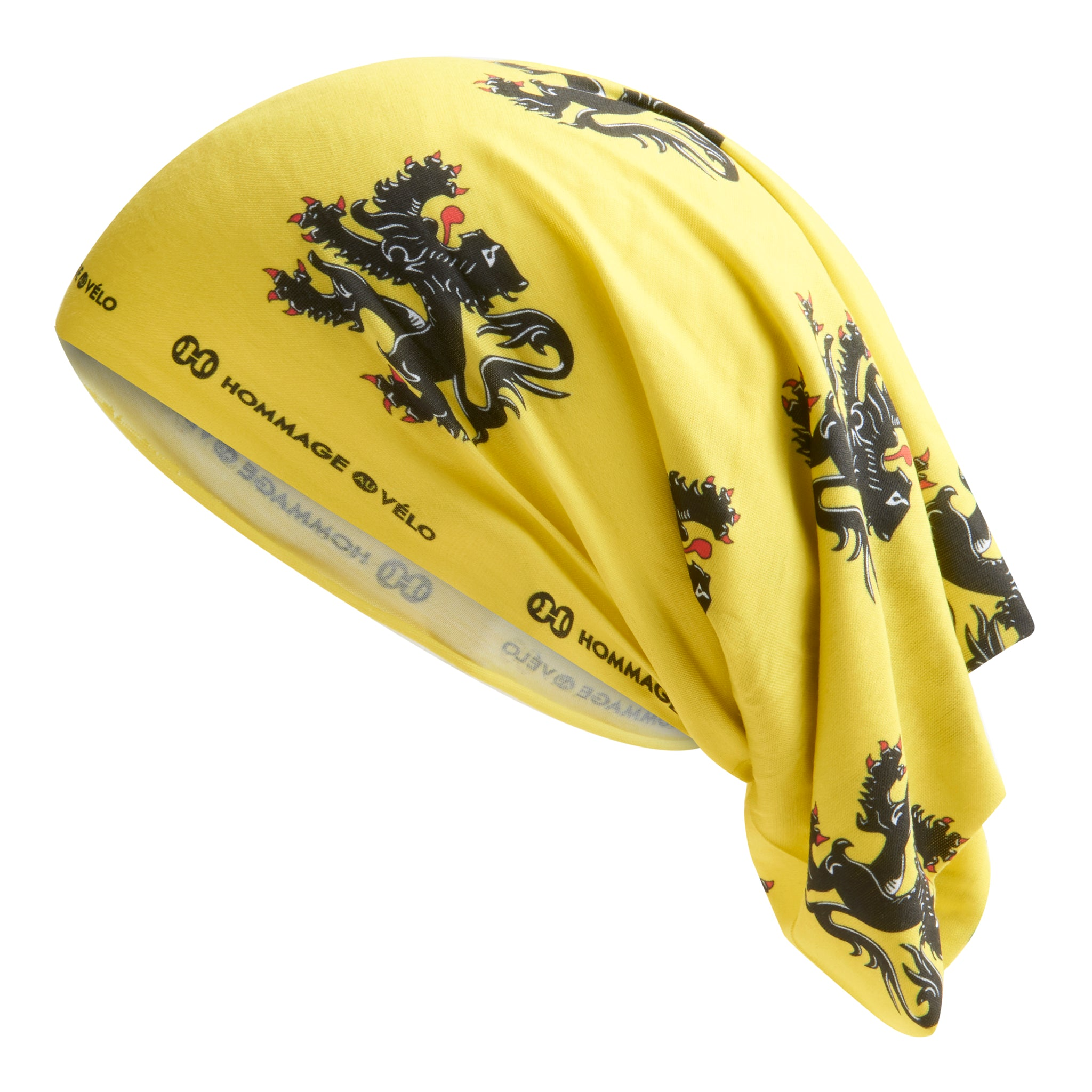 Cadoudal Neck Warmer - Yellow with Flanders Lion