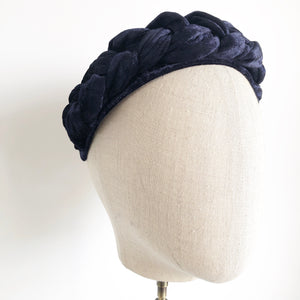 Braided turban... Navy
