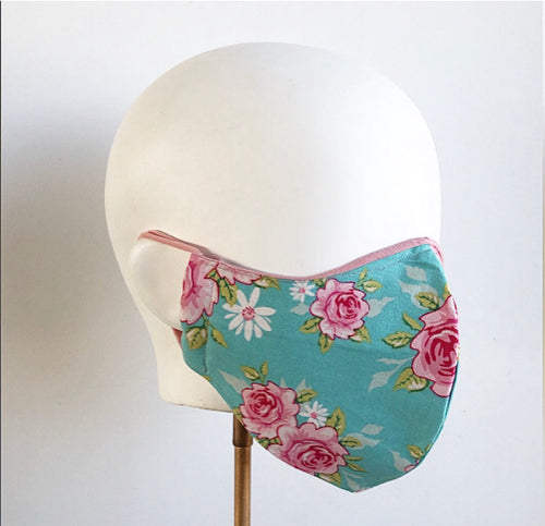 Floral bouquet mask