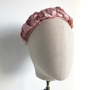 Braided turban ... Blush