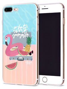 Coque smartphone WHAT ABOUT SUMMER - Flamingo