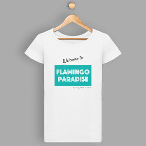 T-shirt femme WELCOME TO FP - Vert et blanc