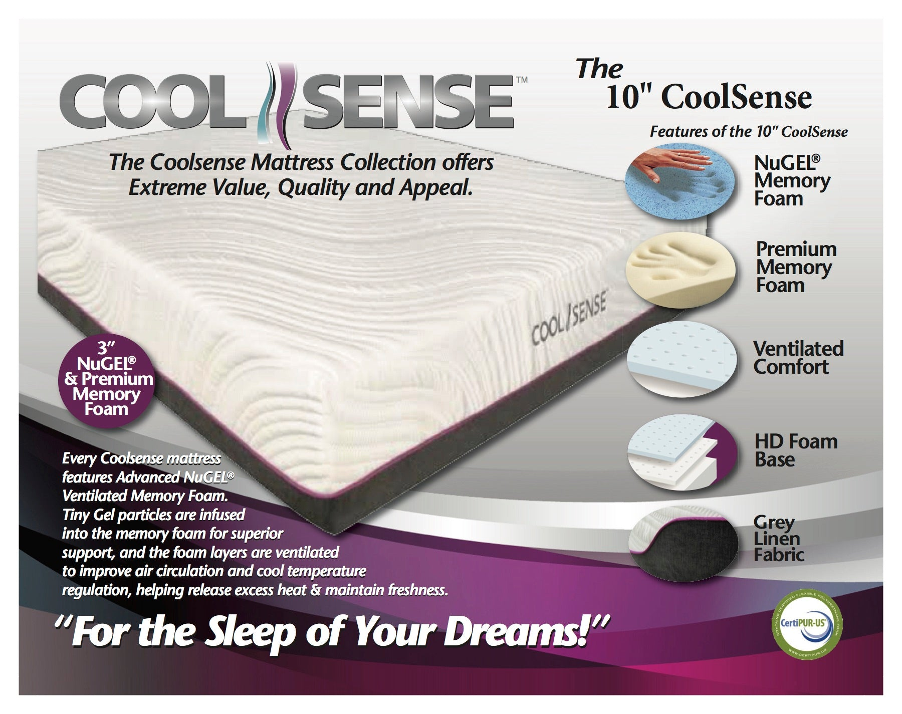 "The 10"" CoolSense Mattress"