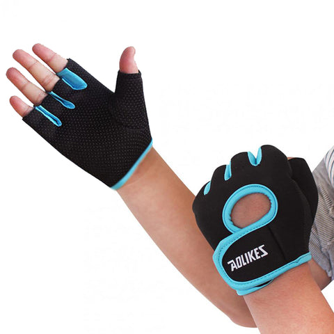 Aolikes Gym Sport Body Building Training Weightlifting Crossfit Gloves For Men Women Fitness Gloves Dumbbells Gym Gloves HBK001
