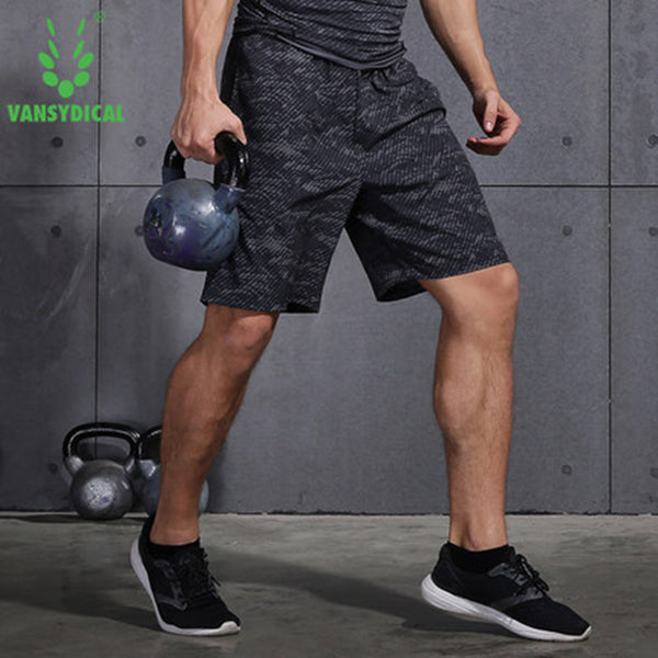 Men Running Sports Shorts Fitness Workout Gym Basketball Quick Dry Vansydical Bottom Sportswear
