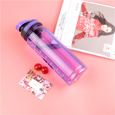 700ML 4 Color Leak-Proof Seal Large Capacity Nozzle Gym Sport Bicycle Plastic My Water Bottles With Cover Lip Filter BPA Free