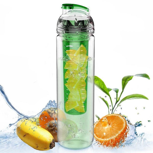AVOIN colorlife 800ml Sport Fruit Infuser Water Bottle BPA free Plastic Drinking My bottle Outdoor Gym Camping My Favorite Gift