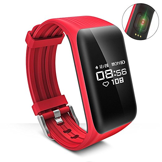 Newest Fitness Tracker k1 Smart Bracelet Real-time Heart Rate Monitor down to Sec Smart Band Activity Tracker