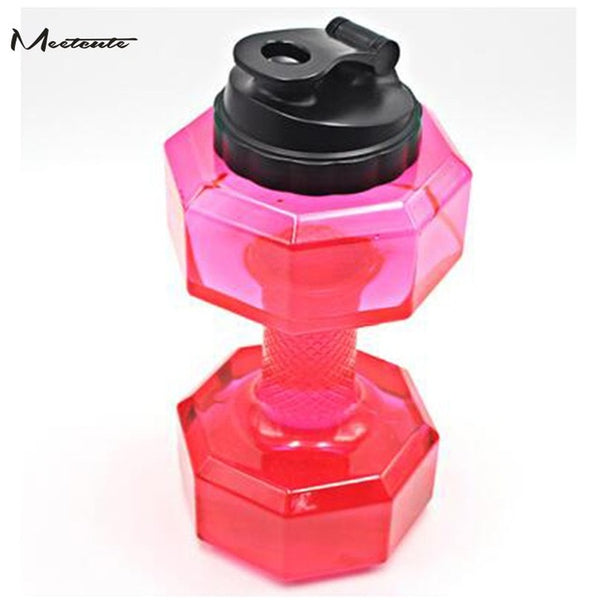 Meetcute Large Capacity Dumbbell Water Bottle For Gym Fitness Sports Outdoor Leak-proof Dumbbells Shaped Sport Water Bottle