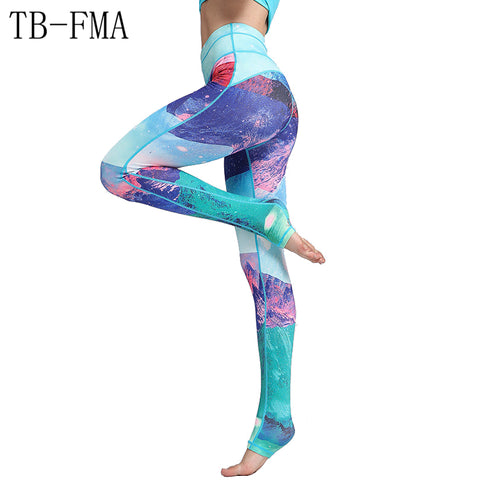 Yoga Leggings Sports Pants Yoga Women sports clothing trousers Fitness yoga Compression Sport Tights Yoga Sportswear gym clothes