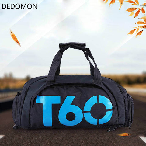 Brand New Men Sport Gym Bag Women Fitness Waterproof Outdoor Separate Space For Shoes pouch rucksack Hide Backpack sac de T60